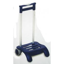 Carro Colegial Plegable Azul Aluminio R142
