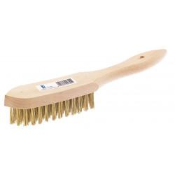 Cepillo Manual Acero Latonado 3 Hileras C/mango S325ci Fecin