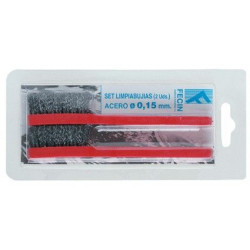 Cepillo Manual Acero Limpiabujias 2pz Puas 15mm 0915a2d Blis