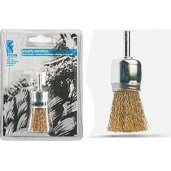 Cepillo Brocha Acero Latonado 26mm P/taladro Br2630d Blister