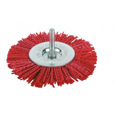 Cepillo Circular Nylon 100mm P/taladro Fbe100d Blister Fecin