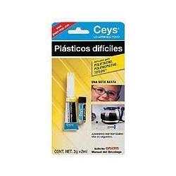 Pegamento Instantaneo Plasticos Dificiles 3gr+4ml.504114 Ceys
