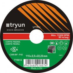 Disco Corte Piedra Tryun 178x3x22 Ty8014