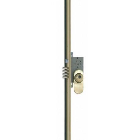 Cerradura Seg.3puntos Dcha.frente H.40mm.entrada50mm.latonad