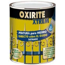 Esmalte Al Agua P/hierro Satinado Negro 750ml Oxirite Xtrem