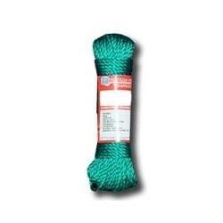 Cuerda Polietileno Trenzada 5mm Verde Madeja 20m Com2008peri