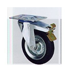 Rueda Gir.fr Goma Negra D.125zv Platina 140kg 2-1150 Alex