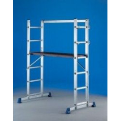 Escalera Aluminio Convertible En Andamio Tecno 2x5peld Svelt