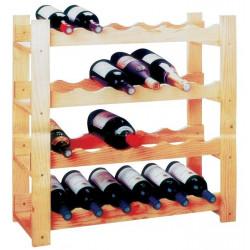 Botellero Pino Macizo 24 Botellas 70x70x28 Di821
