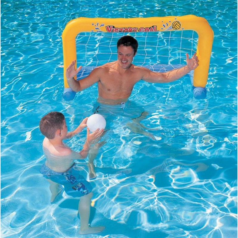 Comprar porteria hinchable para piscina 137x63x7cm en for Piscina hinchable jardin