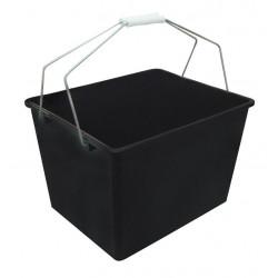 Cubeta Plastico Negro 16litros+rejilla H74001s