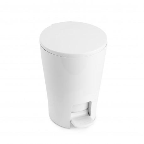 Cubo Baño Con Pedal 5lt.plastico Blanco Cubeta Extraib Blanc