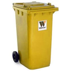 Contenedor Plastico Con Ruedas 240litros Amarillo 04007-4