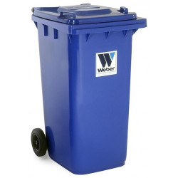Contenedor Plastico Con Ruedas 240litros Azul 04007-2