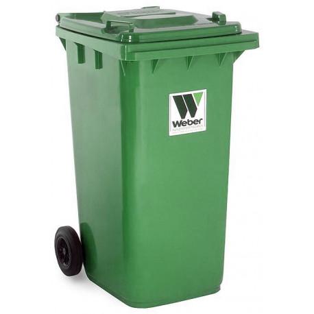 Contenedor Plastico Con Ruedas 240litros Verde 04007-5
