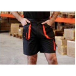 Pantalon Corto Tergal 240gr Negro/naranja Top Range T-m