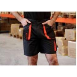 Pantalon Corto Tergal 240gr Negro/naranja Top Range T-l