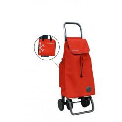 Carro Compra 4r 48lt Pleg C/bolsa Termo Mod.mf Pack Rojo