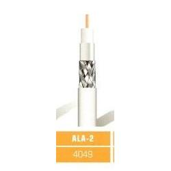 Cable Coaxial Blanco-negro Ala2 Rollo 100metros Lazsa