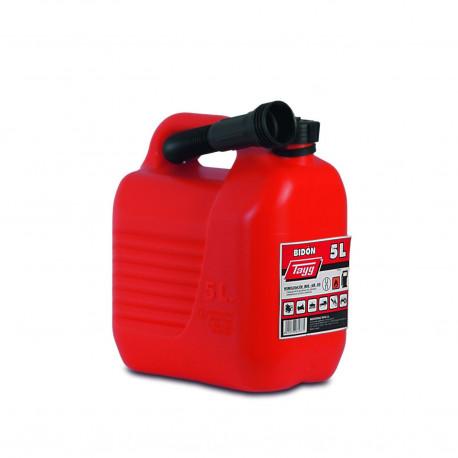 Bidon Plastico C/canula  5lt Para Carburantes 230x145x257mm