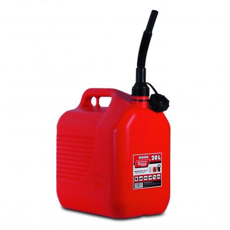 Bidon Plastico C/canula 20lt Para Carburantes 345x234x377mm