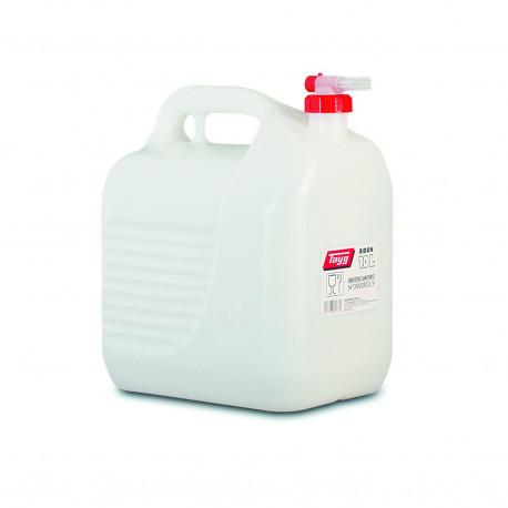 Bidon Plastico C/tapon-grifo De 10lt Blanco 265x200x307mm