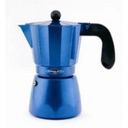 Cafetera Aluminio Val.inducc 6tz C/reduct A 3tz Azul Oroley