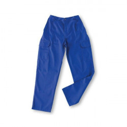 Pantalon Algodon Azulina Multibolsillos Con Goma T58 L500