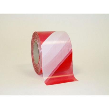 Cinta Señalizacion Roja/blanca 70mmx200mt Espesor 30 Micras