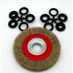 Cepillo Circular Metalico 150mm/25mm Acero P/amolado. Tryun