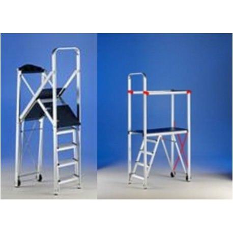 Escalera andamio aluminio anodizado 110x55x210cm flash - Escalera andamio aluminio ...