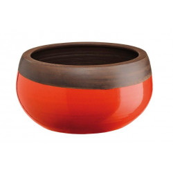 Maceta Ceramica 28x15 Naranja/marron Ab Flowers