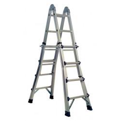 Escalera Multiusos Aluminio 4x4excell Bisagra De Acero