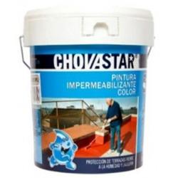 Pintura Impermeabilizante Roja Bote 1kg Chovastar
