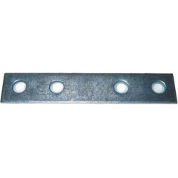 Placa Recta Union 100x15mm Zincada
