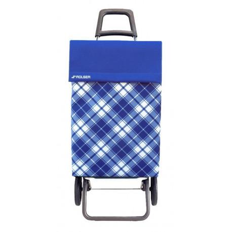 Carro Compra 2r 48lt Cuadros Azules Jea021 Rolser