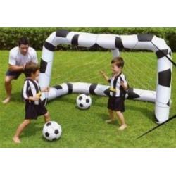 Porteria De Futbol Con Dos Balones Para Jardin 213x122x137cm 2