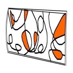 Plafon Trazos Naranja 30x30  E27 2x60w