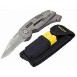 Navaja Acero Filo Dentado+cuchillo Retractil Con Funda