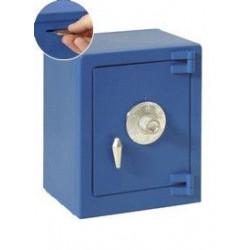 Hucha Caja Fuerte Con Combinacion Azul