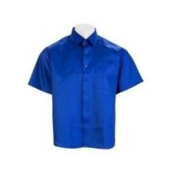 Camisa Tergal Manga Corta Azulina 2 Bolsillos Talla 44 Vesin