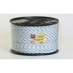 Cuerda Polipropileno Doble Trenzado 08mm Blanca/azul 200m