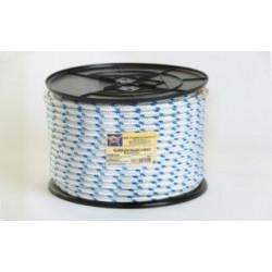 Cuerda Polipropileno Doble Trenzado 12mm Blanca/azul 100m