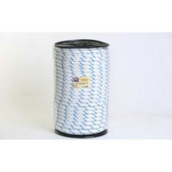 Cuerda Polipropileno Doble Trenzado 20mm Blanca/azul 100m