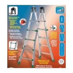 Escalera Multiuso Aluminio 8+8 Ta-4