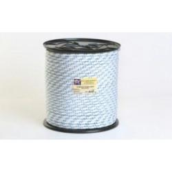 Cuerda Polipropileno Doble Trenzado 10mm Blanca/azul 200m