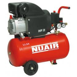 Compresor 24l C/aceite 2cv 8bares Rccc404lev554. Nuair Red L