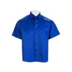 Camisa Tergal Manga Corta Azulina 2 Bolsillos Talla 52 Vesin