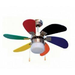 Ventilador Techo 45w Aspas 85xm 3 Vel. Multicolor Cc65085