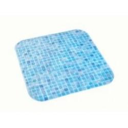 Alfombra Ducha Mosaico 54x54 Azul 05169